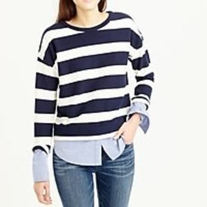 J. Crew Striped longsleeve T-shirt  shirttail hem